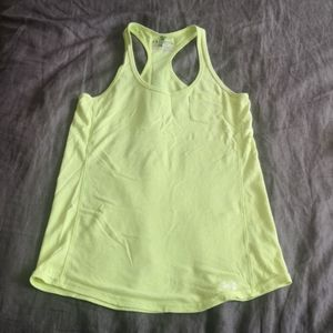 Under Armour bright yellow semi-fitted tank top